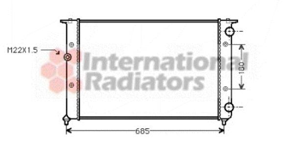 Radiateur, refroidissement du moteur - VAN WEZEL - 58002116