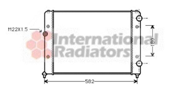 Radiateur, refroidissement du moteur - VAN WEZEL - 58002119