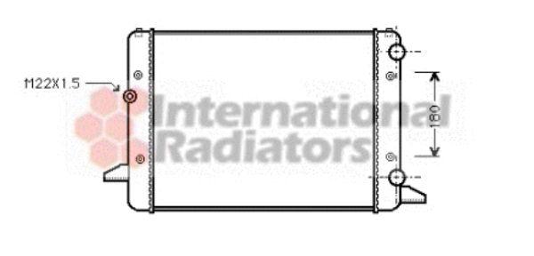 Radiateur, refroidissement du moteur - VAN WEZEL - 58002120