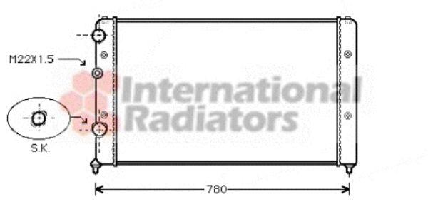 Radiateur, refroidissement du moteur - VAN WEZEL - 58002122