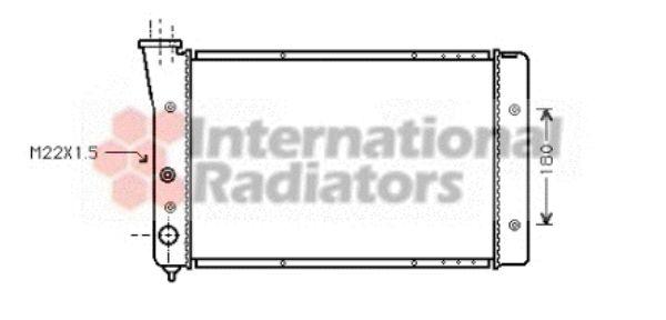 Radiateur, refroidissement du moteur - VAN WEZEL - 58002123