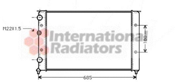 Radiateur, refroidissement du moteur - VAN WEZEL - 58002124