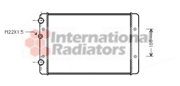 Radiateur, refroidissement du moteur - VAN WEZEL - 58002131