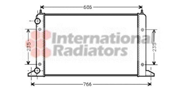 Radiateur, refroidissement du moteur - VAN WEZEL - 58002133