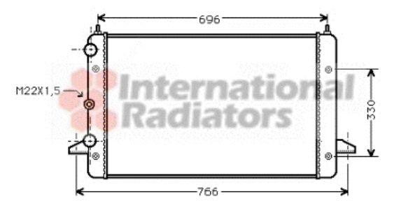 Radiateur, refroidissement du moteur - VAN WEZEL - 58002135