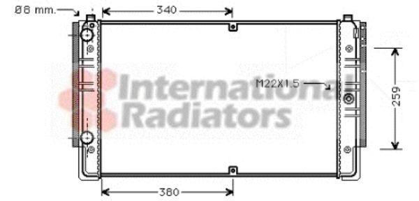 Radiateur, refroidissement du moteur - VAN WEZEL - 58002149