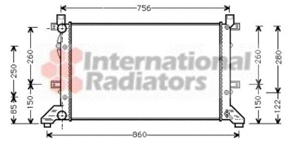 Radiateur, refroidissement du moteur - VWA - 88VWA58002155