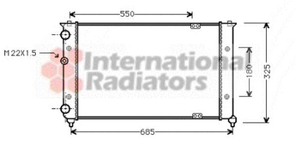 Radiateur, refroidissement du moteur - VAN WEZEL - 58002156