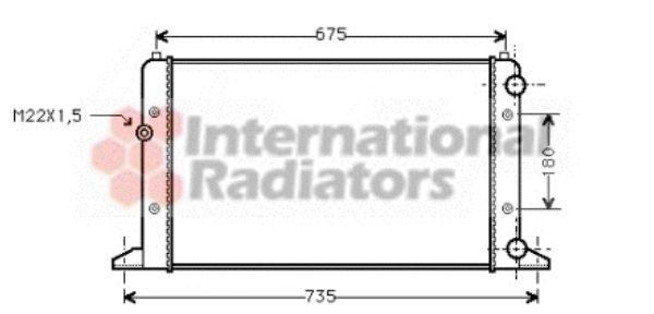 Radiateur, refroidissement du moteur - VAN WEZEL - 58002160