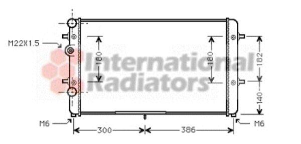 Radiateur, refroidissement du moteur - VAN WEZEL - 58002179