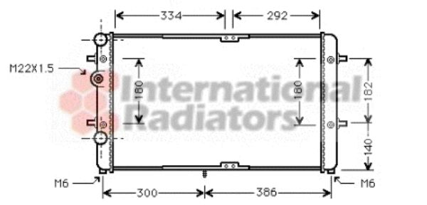 Radiateur, refroidissement du moteur - VAN WEZEL - 58002180