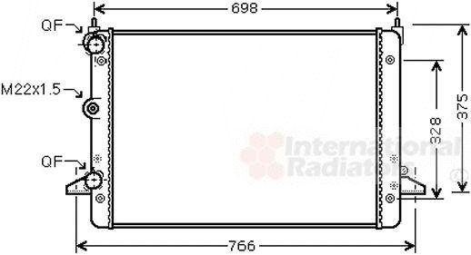Radiateur, refroidissement du moteur - VAN WEZEL - 58002184