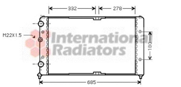 Radiateur, refroidissement du moteur - VAN WEZEL - 58002191