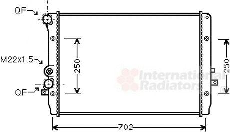 Radiateur, refroidissement du moteur - VAN WEZEL - 58002193