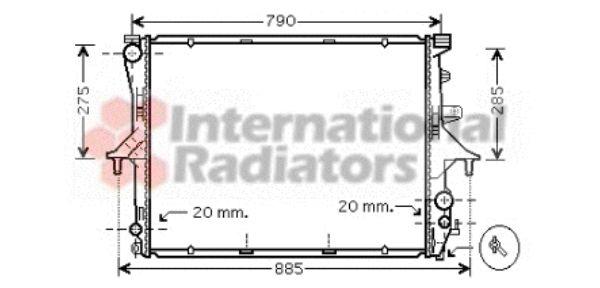 Radiateur, refroidissement du moteur - VAN WEZEL - 58002198