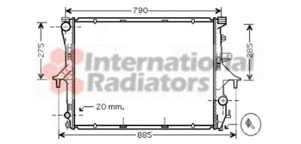 Radiateur, refroidissement du moteur - VAN WEZEL - 58002199