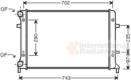 Radiateur, refroidissement du moteur - VAN WEZEL - 58002228