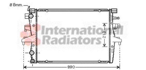 Radiateur, refroidissement du moteur - VAN WEZEL - 58002230