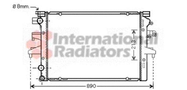 Radiateur, refroidissement du moteur - VAN WEZEL - 58002231