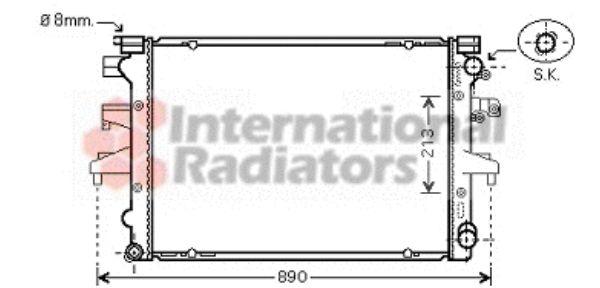 Radiateur, refroidissement du moteur - VAN WEZEL - 58002232