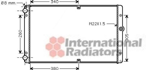 Radiateur, refroidissement du moteur - VAN WEZEL - 58002245