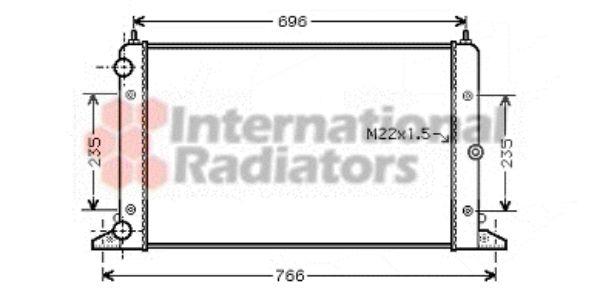 Radiateur, refroidissement du moteur - VAN WEZEL - 58002247