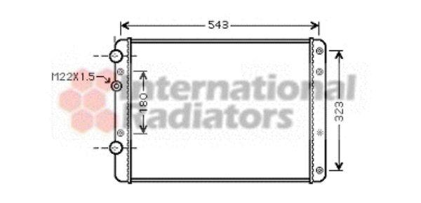 Radiateur, refroidissement du moteur - VAN WEZEL - 58002249