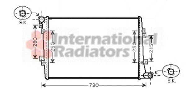 Radiateur, refroidissement du moteur - VAN WEZEL - 58002255