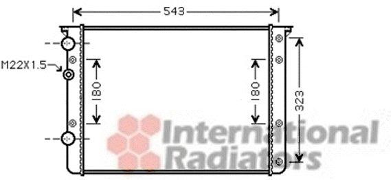 Radiateur, refroidissement du moteur - VAN WEZEL - 58002260
