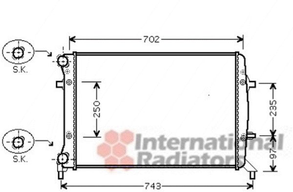 Radiateur, refroidissement du moteur - VAN WEZEL - 58002272