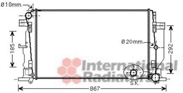 Radiateur, refroidissement du moteur - VAN WEZEL - 58002279