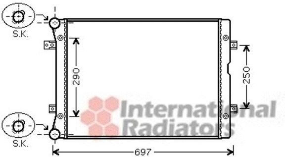 Radiateur, refroidissement du moteur - VAN WEZEL - 58002283