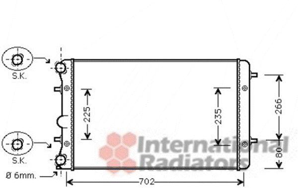Radiateur, refroidissement du moteur - VAN WEZEL - 58002286