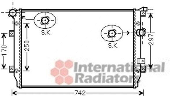 Radiateur, refroidissement du moteur - VAN WEZEL - 58002287