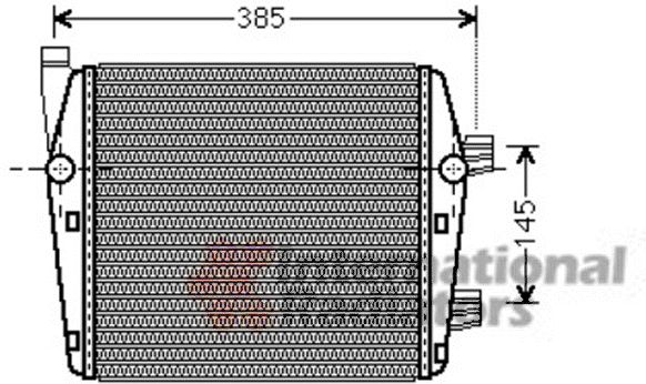 Radiateur, refroidissement du moteur - VAN WEZEL - 58002290