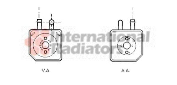 Radiateur d'huile - VAN WEZEL - 58003082