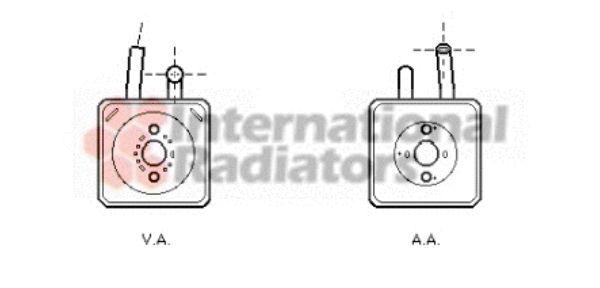 Radiateur d'huile - VAN WEZEL - 58003089