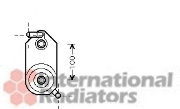 Radiateur d'huile - VAN WEZEL - 58003110
