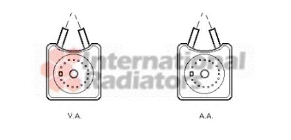 Radiateur d'huile - VAN WEZEL - 58003215