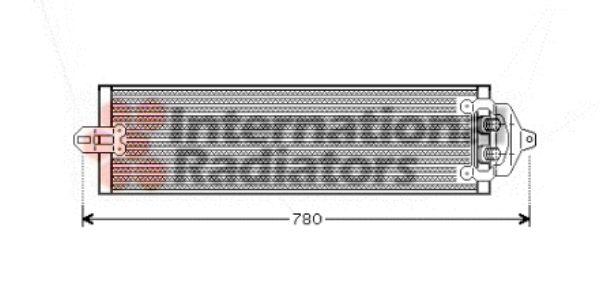 Radiateur d'huile - VAN WEZEL - 58003218