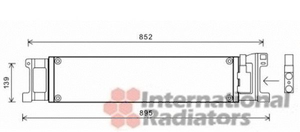 Radiateur d'huile - VAN WEZEL - 58003307