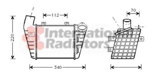 Intercooler, échangeur - VAN WEZEL - 58004127