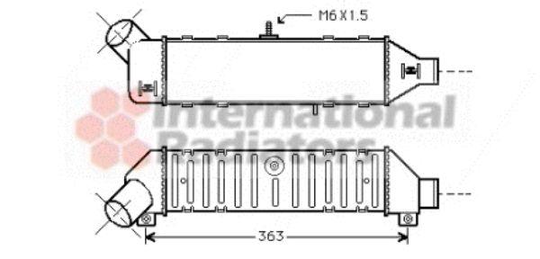 Intercooler, échangeur - VAN WEZEL - 58004136