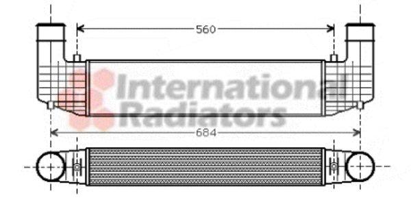 Intercooler, échangeur - VAN WEZEL - 58004157