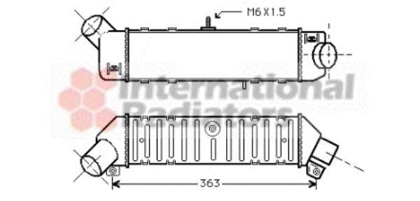 Intercooler, échangeur - VAN WEZEL - 58004162