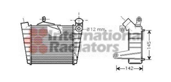 Intercooler, échangeur - VAN WEZEL - 58004213