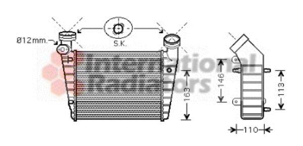 Intercooler, échangeur - VAN WEZEL - 58004216