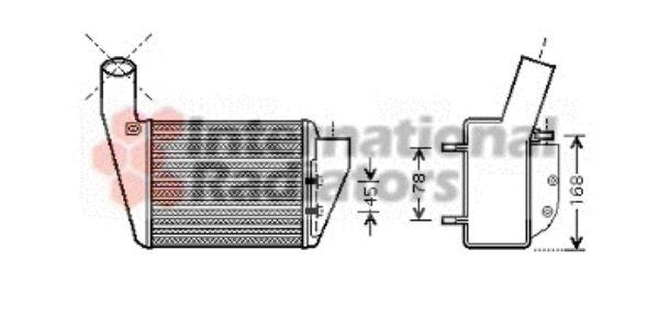 Intercooler, échangeur - VAN WEZEL - 58004222