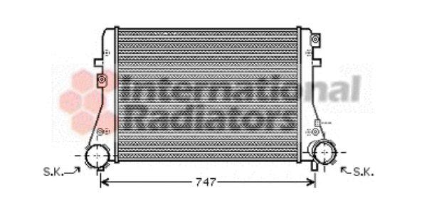 Intercooler, échangeur - VAN WEZEL - 58004227
