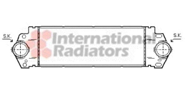 Intercooler, échangeur - VAN WEZEL - 58004233